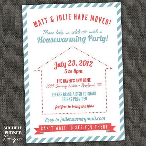 housewarming party potluck.. second favorite invite. | house, Invitation templates