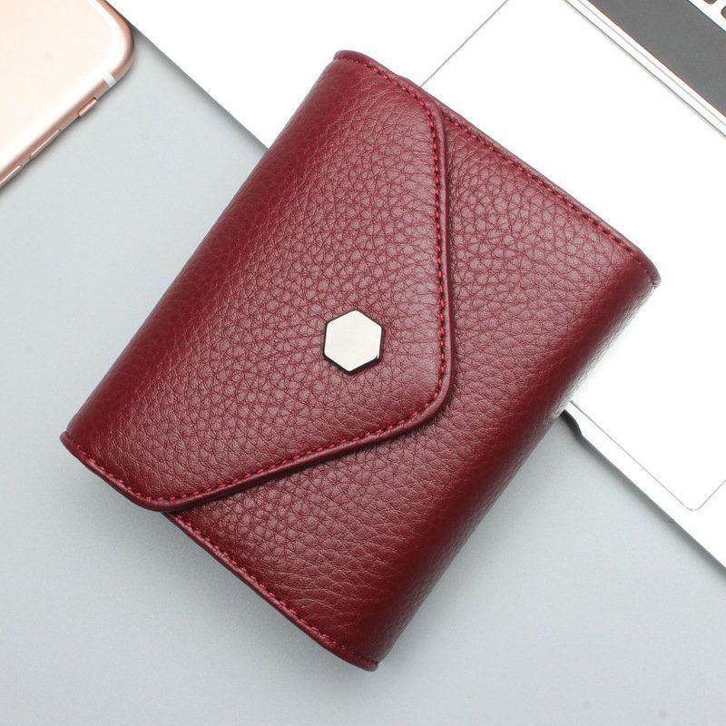 22ec5ed2c5d 2017 Portefeuilles en cuir court populaires Petit porte monnaie pour femmes   WL66002  - €26.98   Towido.com