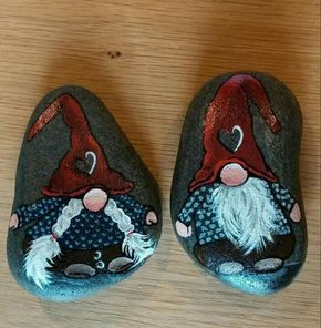 100 kreative Ideen für Steine bemalen in Weihnachtsstimmung! #steinebemalenkinder
