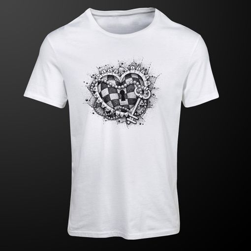 Chess Heart #ChessHeart #white #chess #tshirt #clothing #premiumchesswebshop #chesswebshop