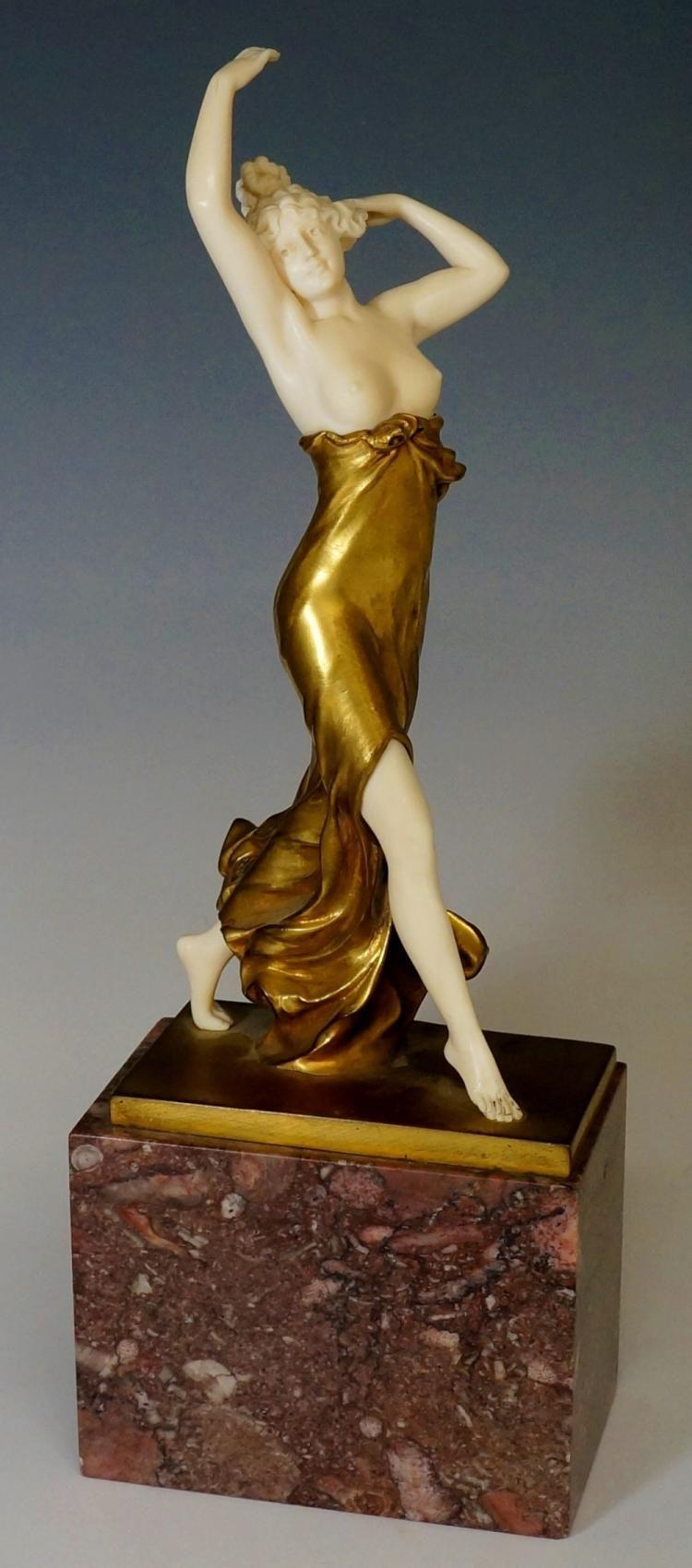 Ferdinand Preiss - Art Deco Ivory Figure Phryne | Art