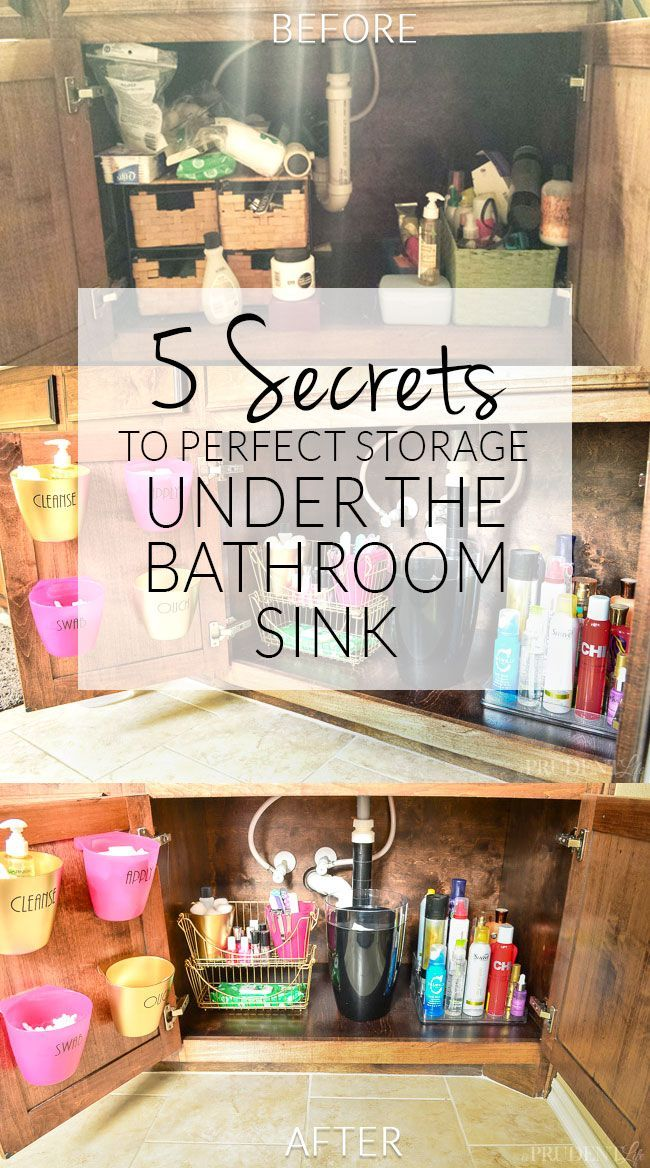 Bathroom Organization Under The Sink Organizing Tips