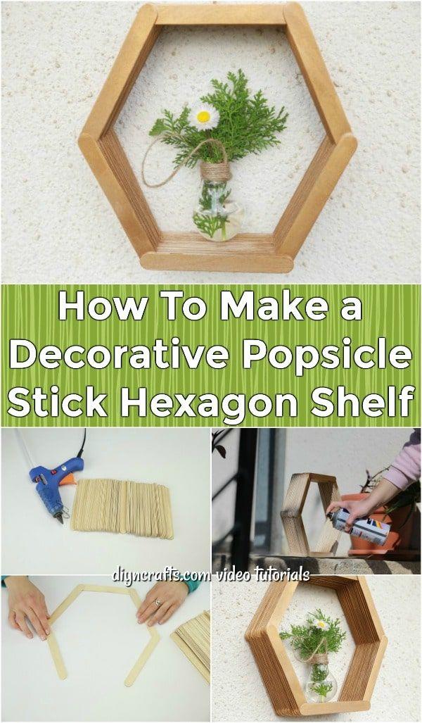 22 diy Shelves popsicle sticks ideas
