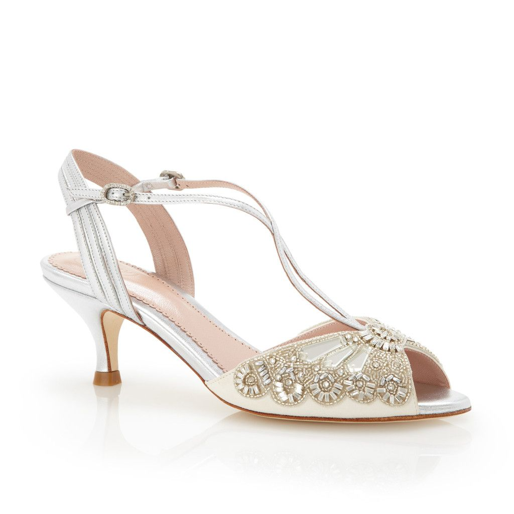 Ella Silver (With images) Gold wedding shoes, Ivory