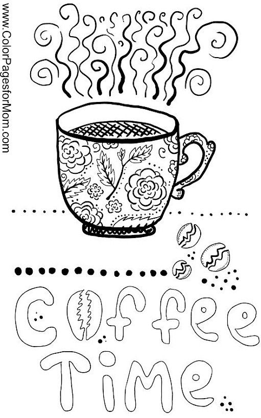 coffee coloring page 21 | Coloring | Pinterest | Coffee ...