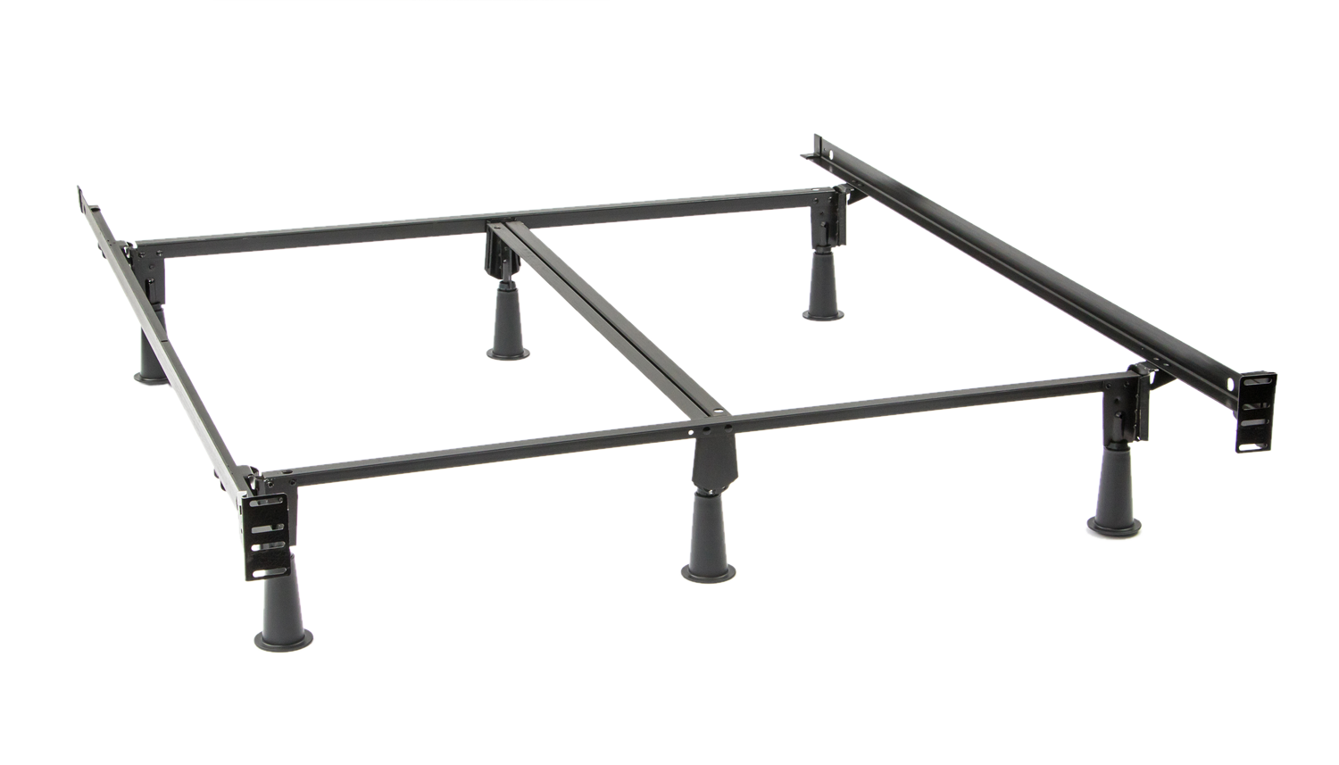 Queen Instamatic Bed Frame With Leg Extender Kit Tall Bed Frame