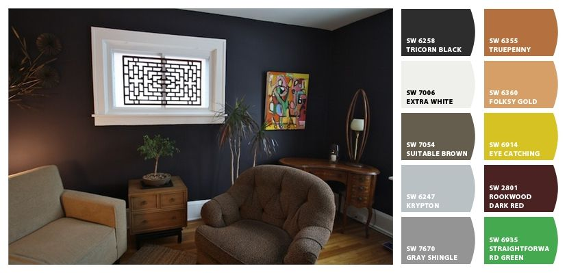 Chip It By Sherwin Williams Tricorn Black Accent Wall