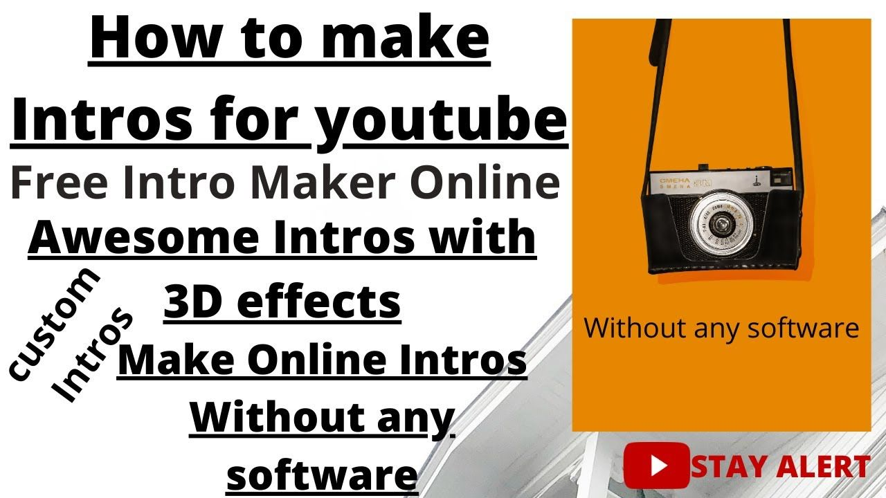 Make Easy Intro For Youtube Without Any Software For Free Video Tutorial Intro Videos Tutorial Youtube