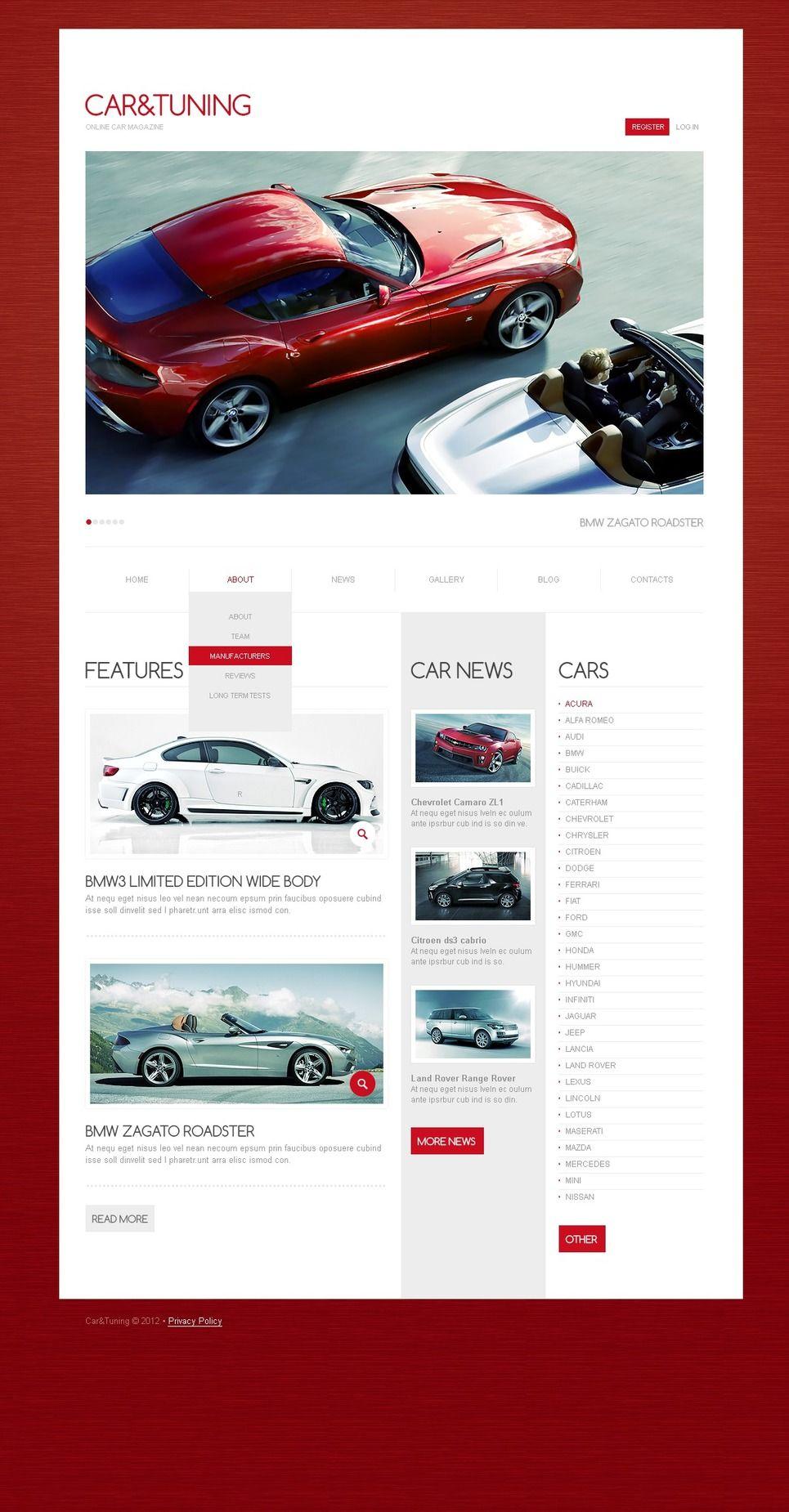 Car Tuning Drupal Template | Design Bundle | Custom website design