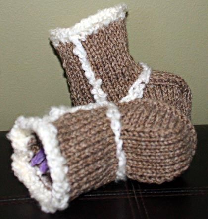 Baby Booties - Ugg Boots Knitting Pattern | Knitting | Pinterest