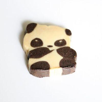 Biscuits au beurre en forme de pandas / Panda Butter Cookie