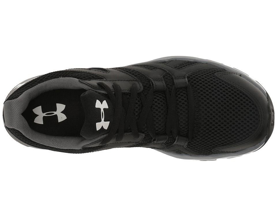 Black White UNDER ARMOUR UA Mens Strive 6 Athletic Shoe