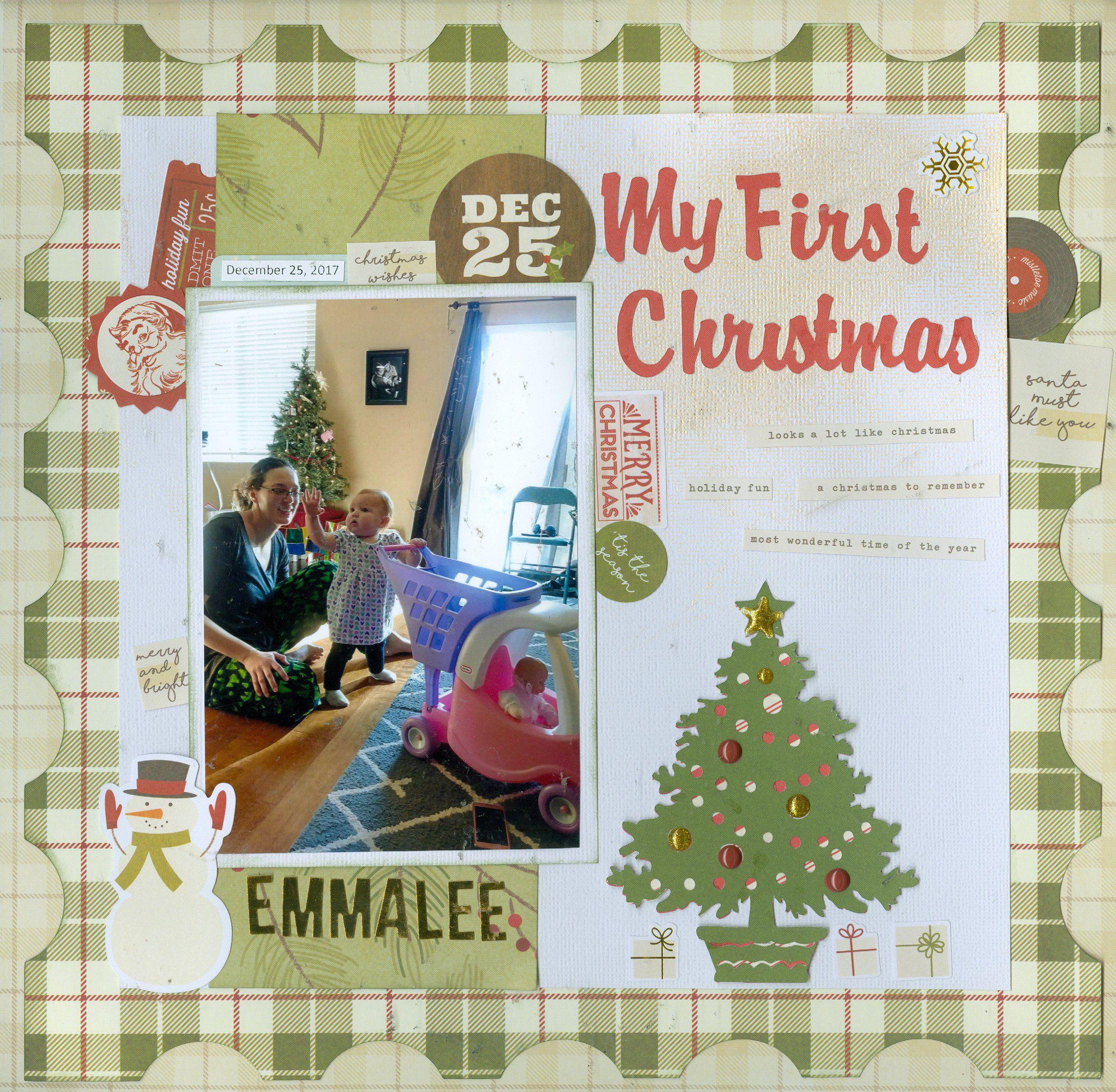 my first christmas scrapbook com my scrapbook pages pinterest