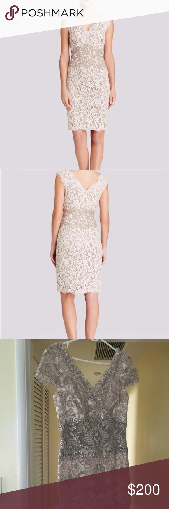 Tadashi Shoji Two Tone Lace Midi Dress Lace Midi Dress Tadashi Shoji Dresses Midi Dress [ 1740 x 580 Pixel ]