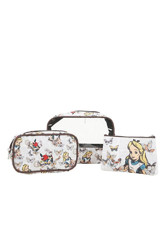 0d590d90ac38 Disney Alice In Wonderland 3-Piece Makeup Bag Set