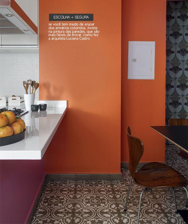 Pink And Orange Kitchen #decor #colors #orange