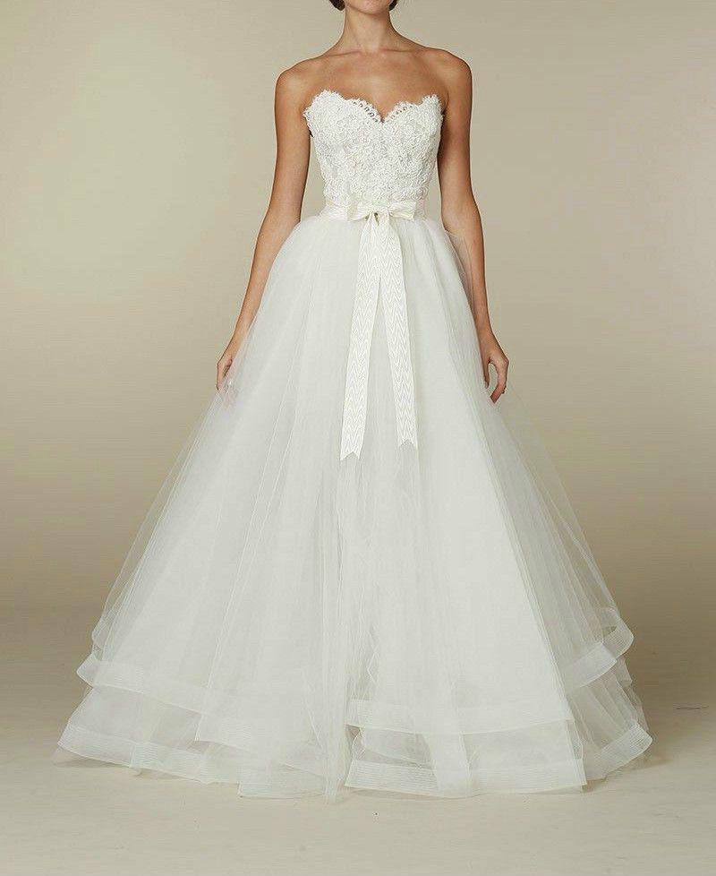 2016 Weiß Spitze Minikleid Hochzeitskleid Brautkleider Abnehmbare ...