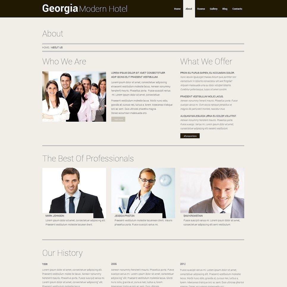 Click here to go to the company website - Hotels Responsive Wordpress Theme Click Here Http Cattemplate