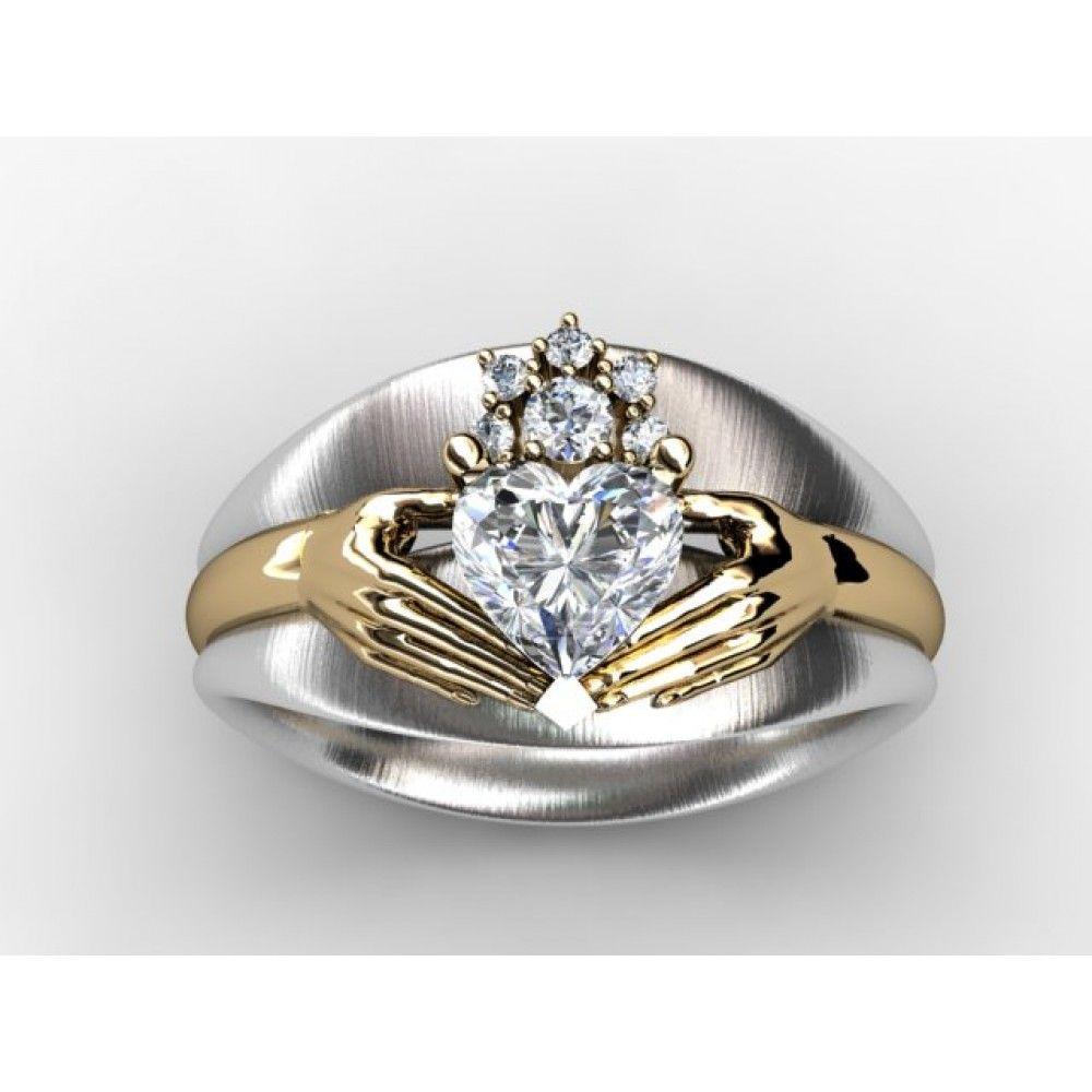 Claddagh Custom Diamond Engagement Ring Fine Jewelry Setting