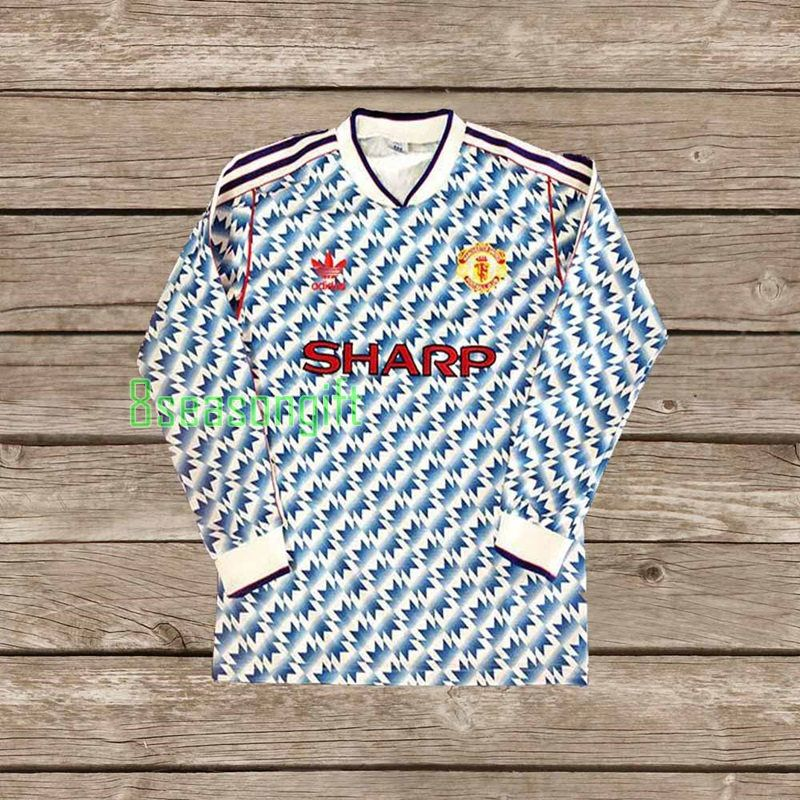 49ab0b96f64 Manchester United 1990-1992 SHARP Away Soccer Jersey Football Shirt S M L XL  CONDITION   USED
