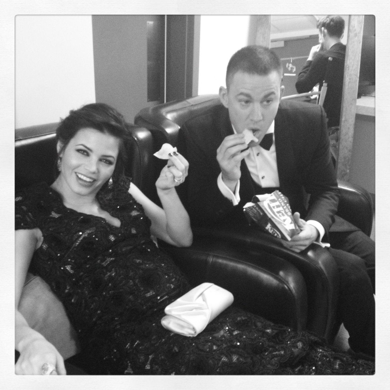 Jenna Dewan Tatum Backstage with Channing Tatum at the Oscars