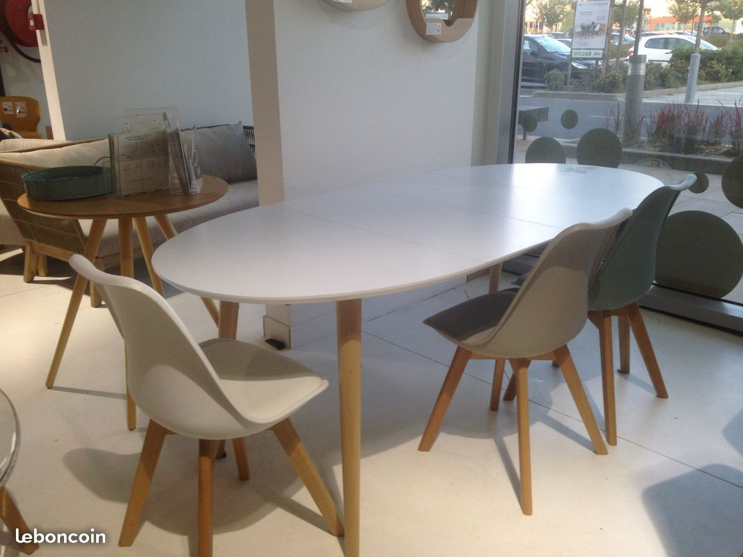 Table À Manger Nordique mycreationdesign table à manger extensible ovale nao 120
