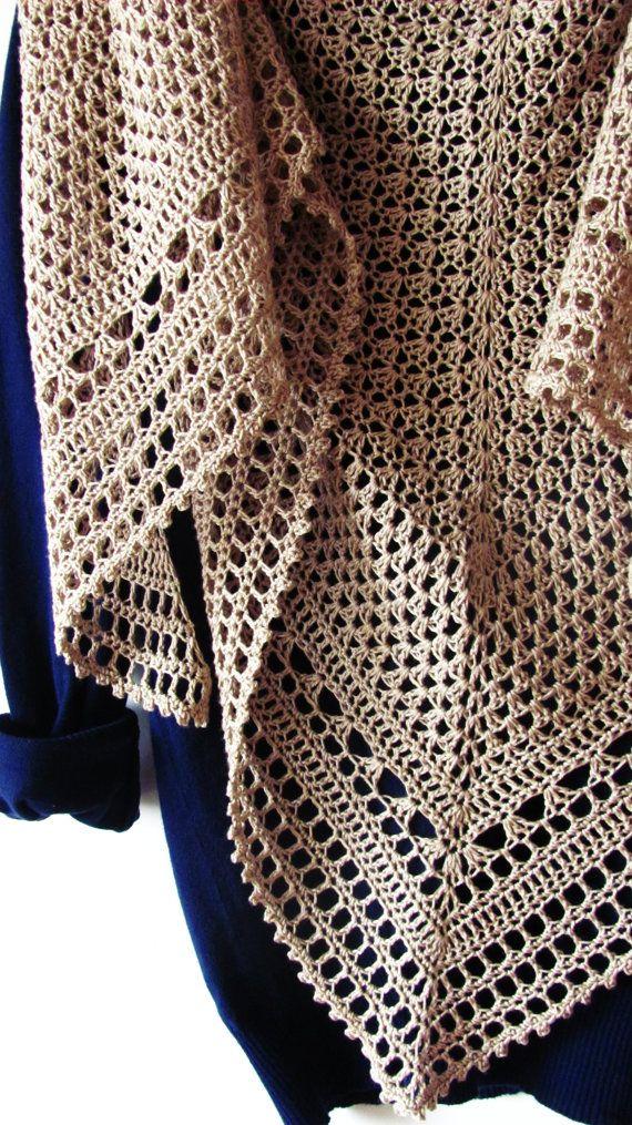 Hourglass Shawl Crochet Pattern PDF | Pinterest | Reloj de arena ...
