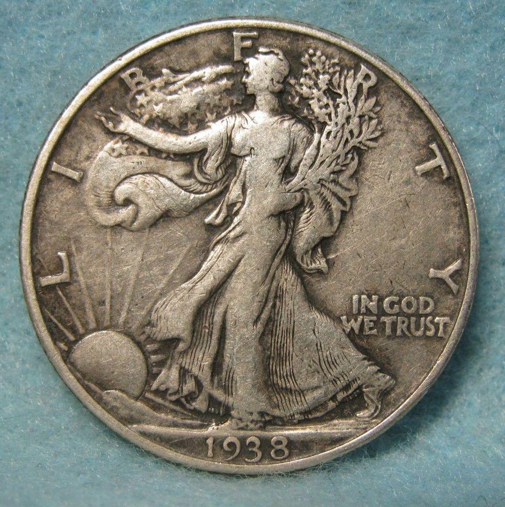 Antique 90 /% Silver 1937 50C Walking Liberty Half Dollar Collectible Rare