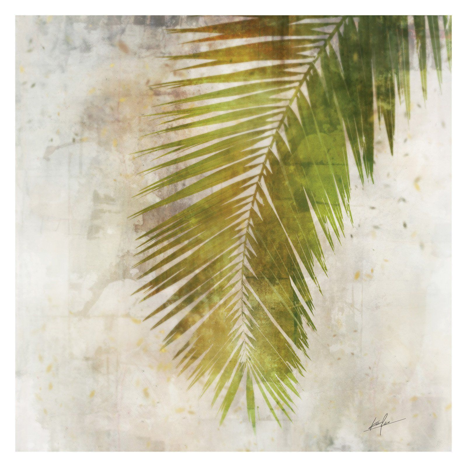 Attractive Palm Leaf Wall Decor Picture Collection - Wall Art ...