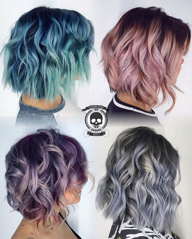 Dyed Hairstyles Beauteous Metallic Lobs What's You Favorite Flavor #hairgod_Zito