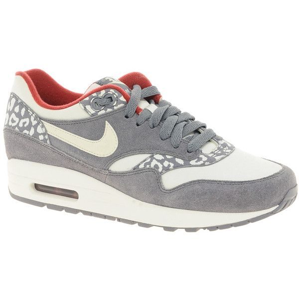 Nike Air Max 1 Nd Gray Leopard Sneakers ($158) ❤ liked on