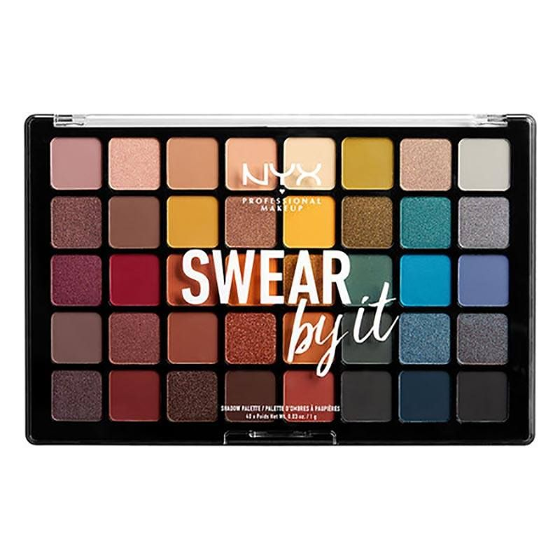 479abe3bf0e NYX just dropped a brand-new 40-pan eyeshadow palette named Swear By It.  Ahead, find out everything you need to know about the makeup launch.