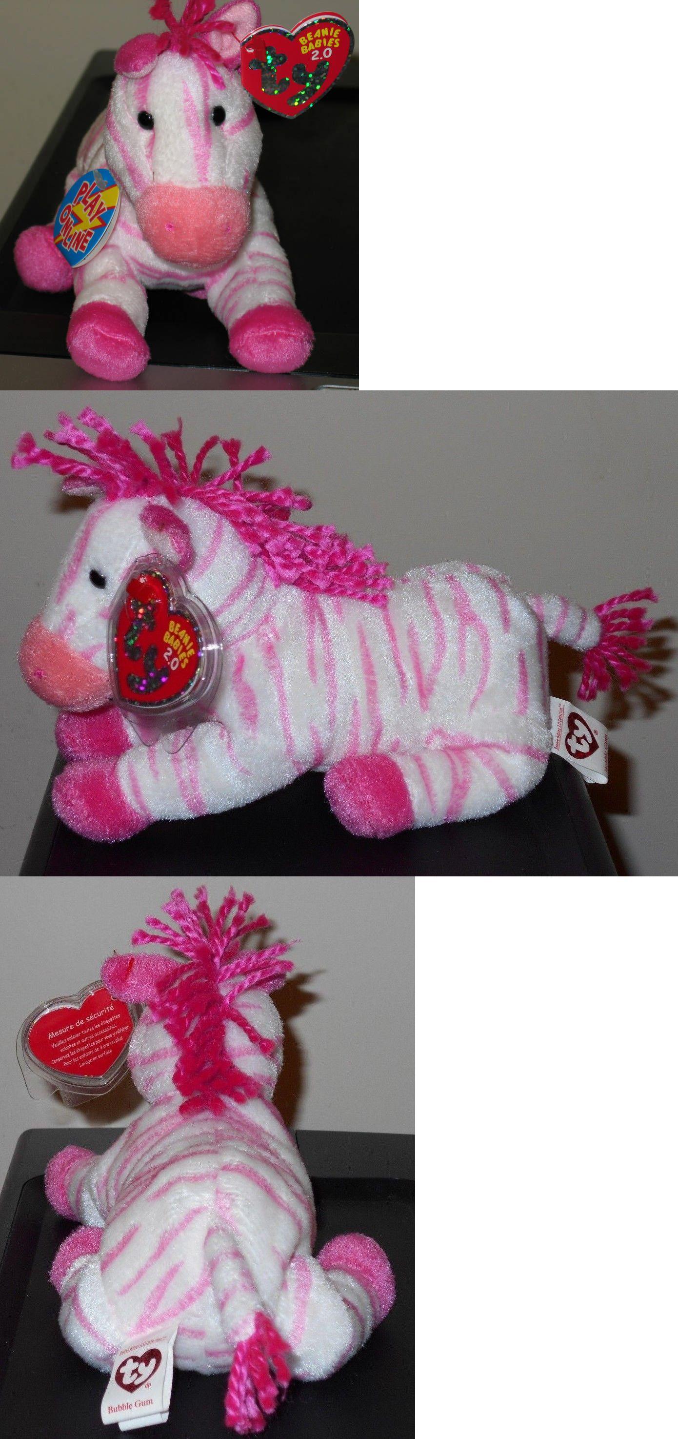 MWMT BUBBLEGUM the Zebra Ty Beanie Baby 2.0 6.5 inch