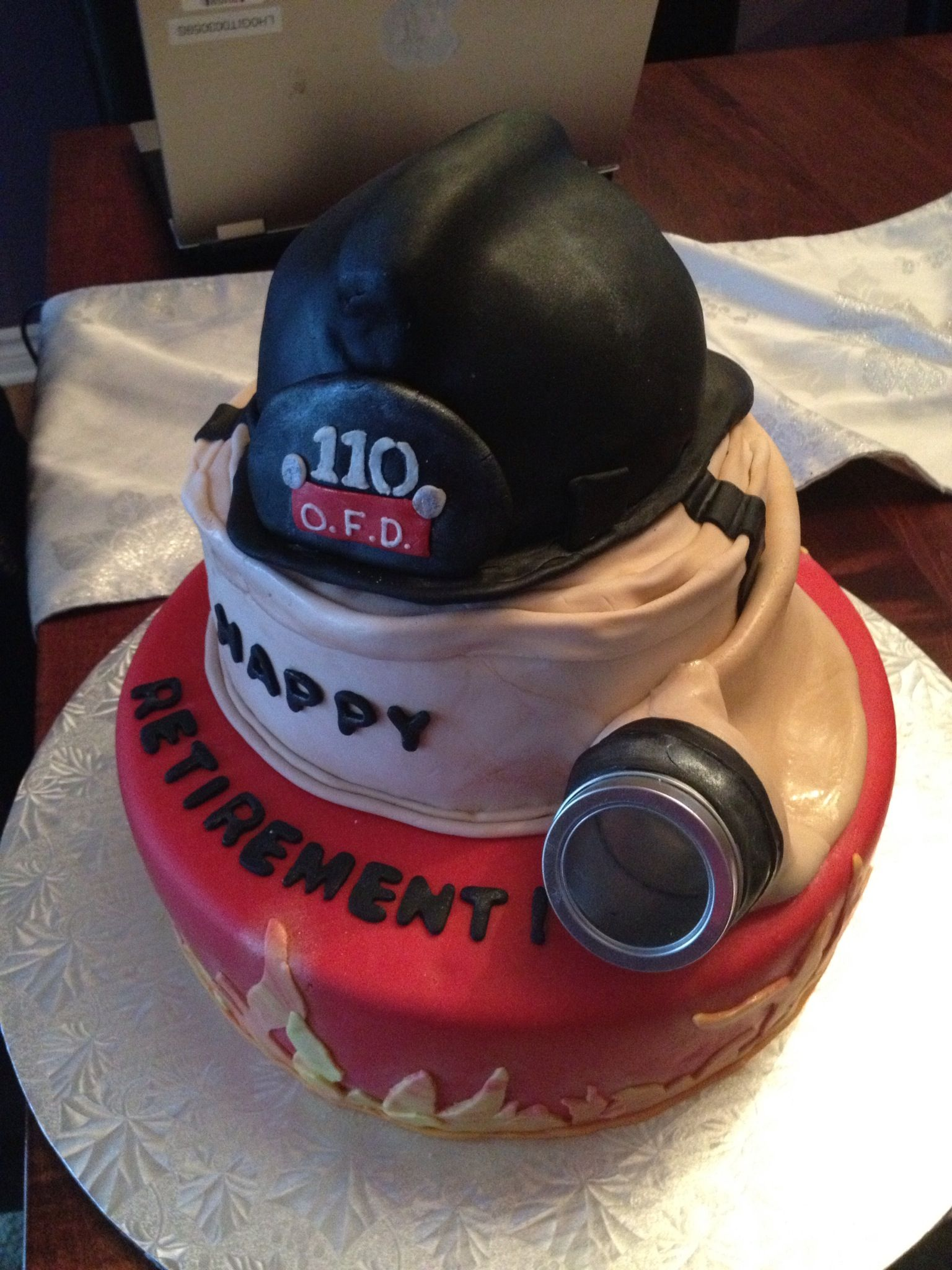 Firefighter Retirement Cake