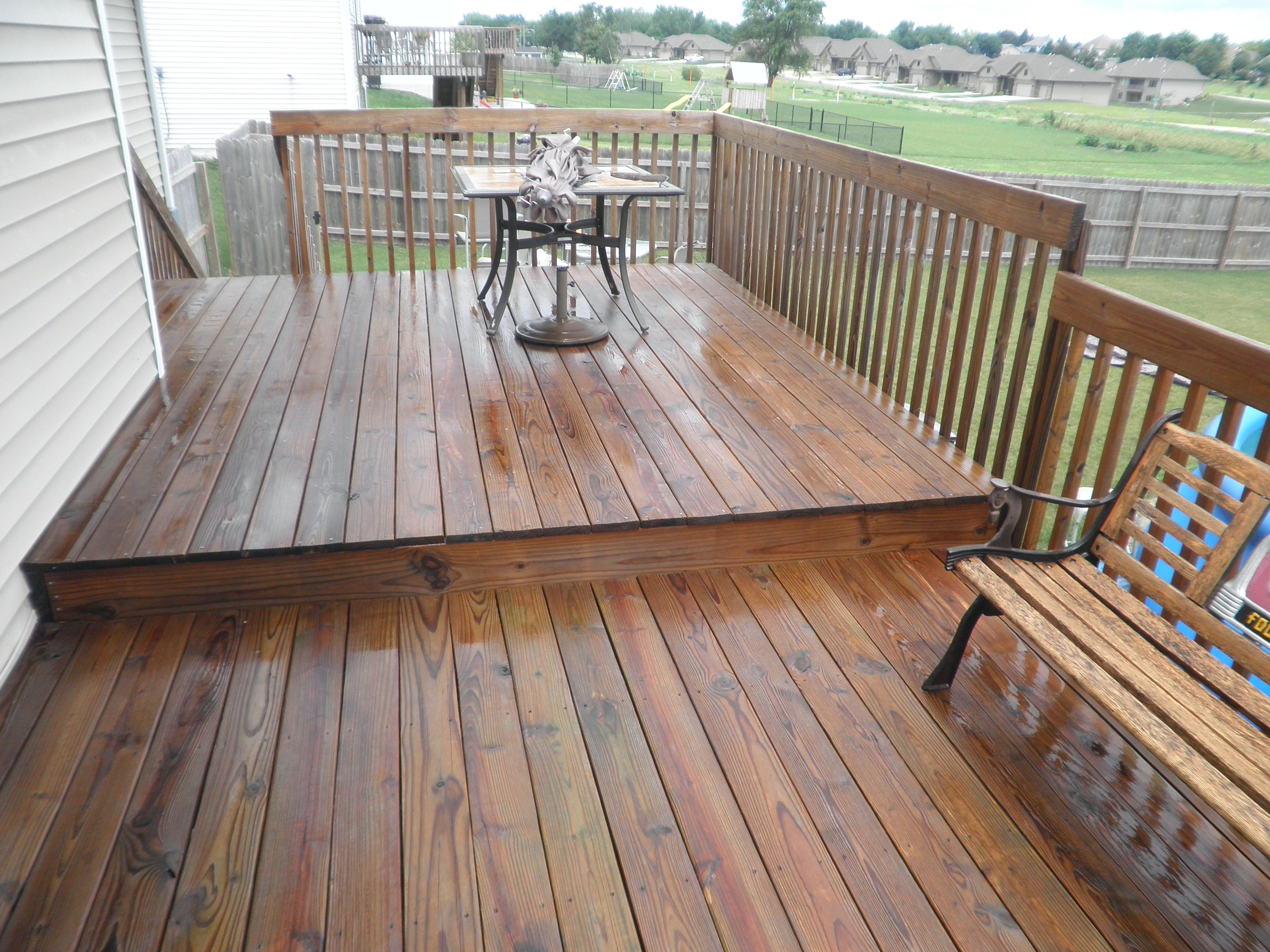 Cabot Semi Transparent Redwood Stain On An Existing Treated Deck