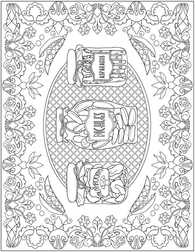 Creative Haven Farmers Market Designs Coloring Book Dover