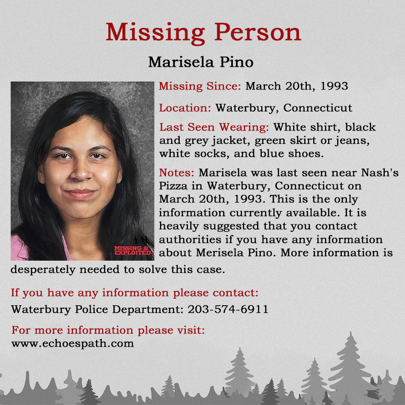 Did you know Marisela Pino? More information is desperately