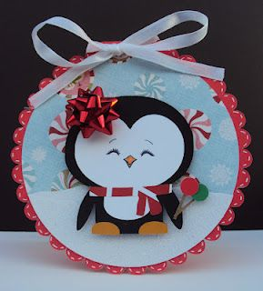 Crafted With Love By Karen: Christmas in July Penguin Card - look at this face #holidaysinjuly