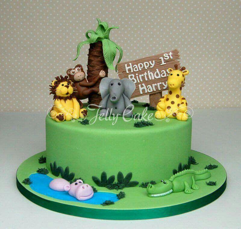 Jungle Birthday Cake Cakes Birthday Cake Cake Birthday