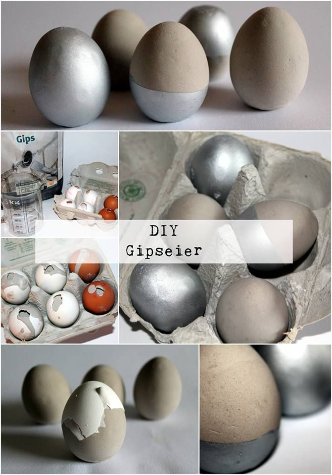 Photo of DIY plaster / concrete eggs Easter decoration very easy to make yourself