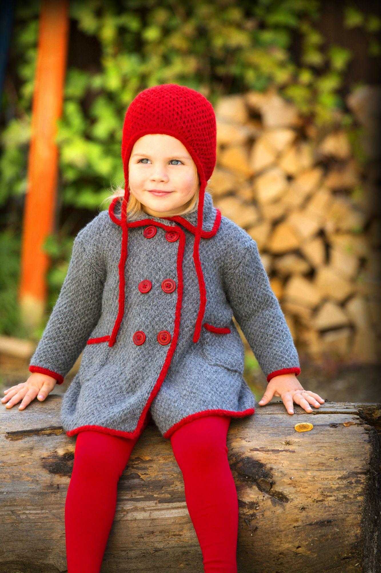 Kids Set Aus Mantel Und Mütze Mit I Cord Häkeln Stricken