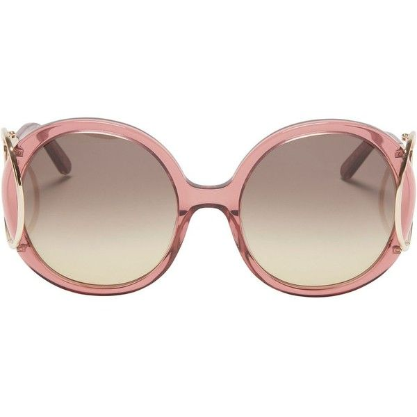 e717f6435d Chloe Jackson Round Sunglasses  Rose ( 398) ❤ liked on Polyvore featuring  accessories