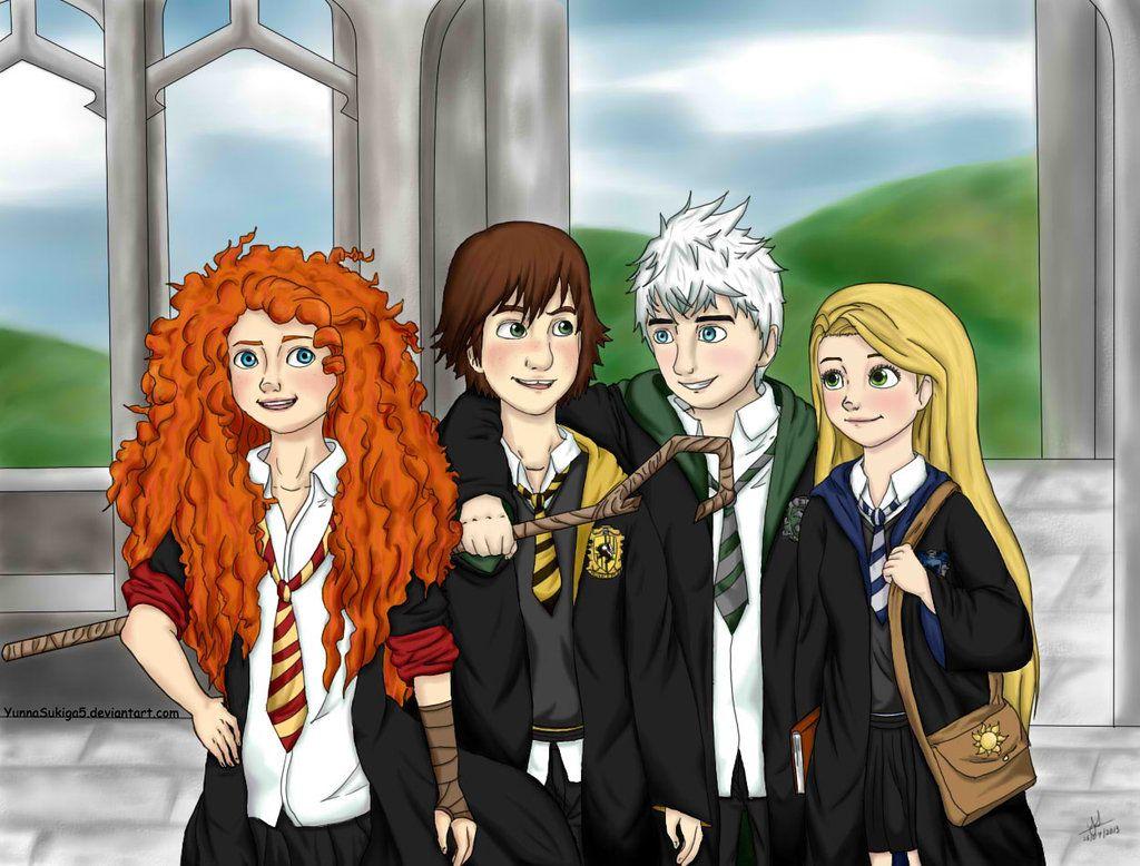 The Big Four Howarts By Yunnasukiga5 On Deviantart The Big Four Disney Hogwarts Big Six