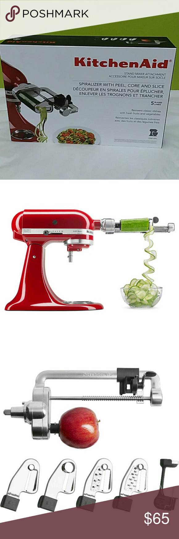 Kitchenaid Spiralizer Attachment For Stand Mixer Brand New