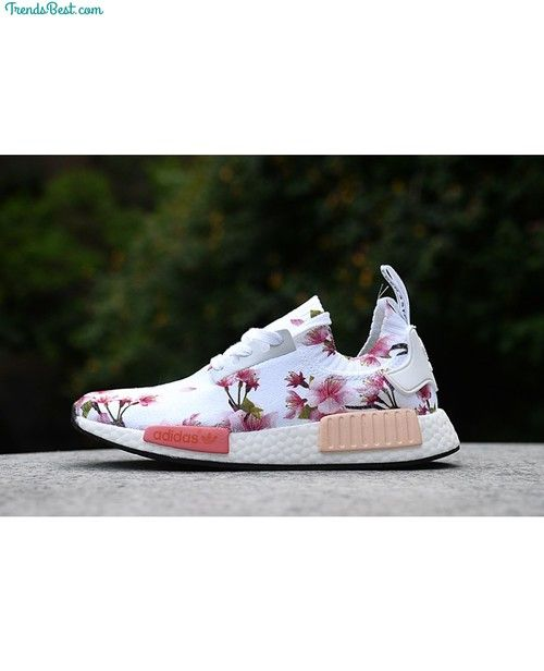 0234822f74c28 Womens Adidas Originals NMD Floral White - NMD Runner - Adidas - NMD Runner
