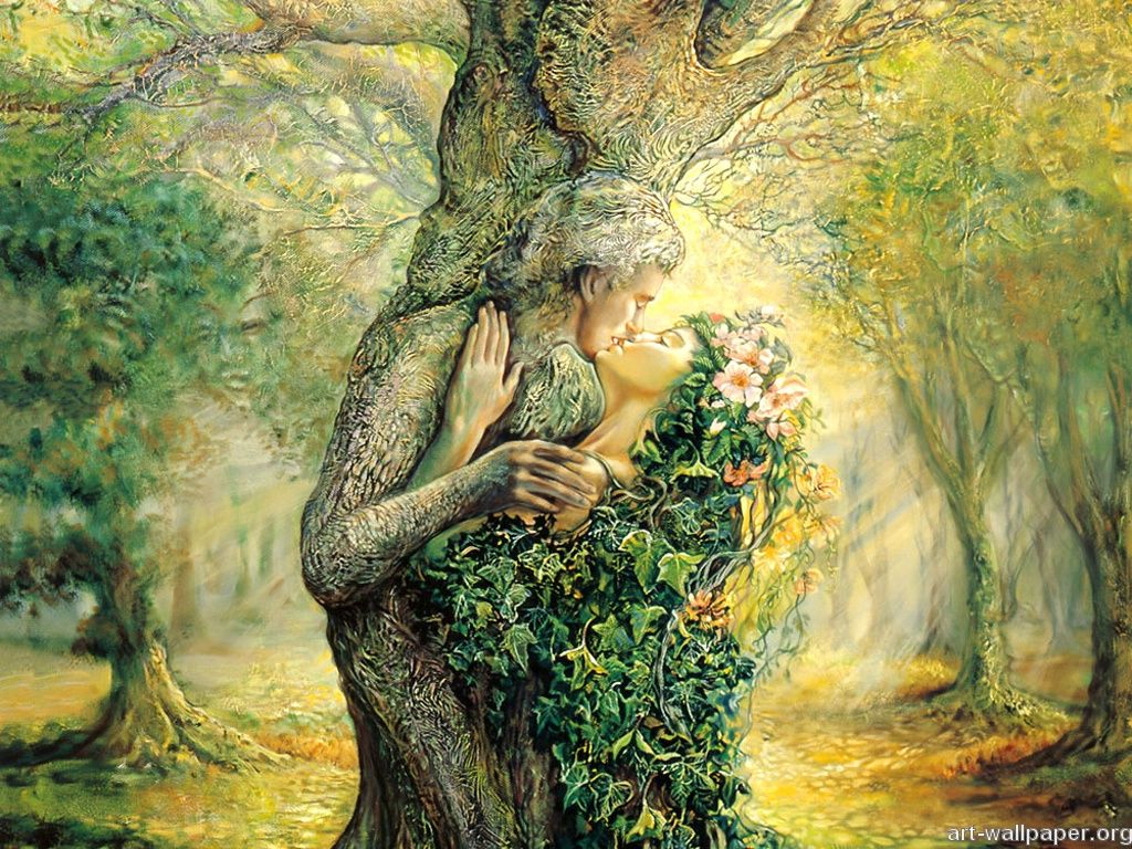 Nature S Embrace By Josephine Wall On A Magical Twilight Night