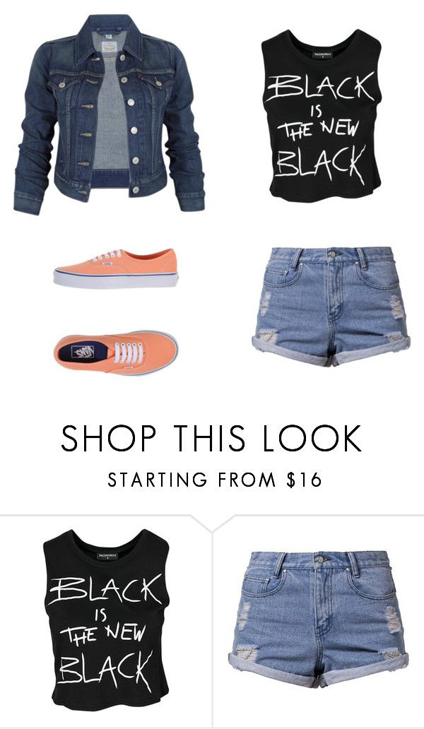 """""""Sin título #585"""" by zaynjuli ❤ liked on Polyvore featuring Levi's, Sally&Circle, Somedays Lovin and Vans"""