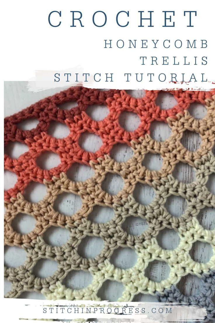 Crochet Honeycomb Trellis Stitch Tutorial