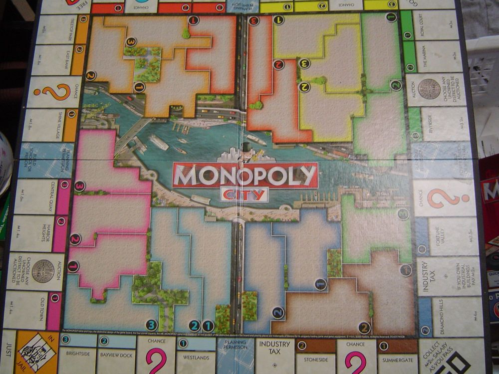 2008 Monopoly City Board Game Replacement Game Board Only