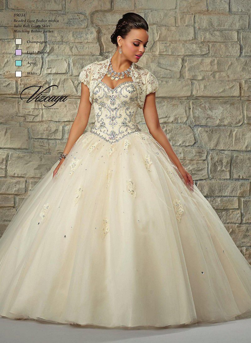 Make it an enchanted evening in this elegant lace and tulle Mori Lee ...